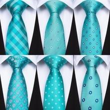 DiBanGu Mens Ties Green Floral Plaids Dots Silk Pocket Square Clip Set Hi-Tie Tie For Men Wedding BK-001