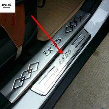 4 шт./лот для 2010 2011 2012 2013 hyundai IX35 нержавеющая сталь защитная накладка на педаль подоконника автомобильные аксессуары