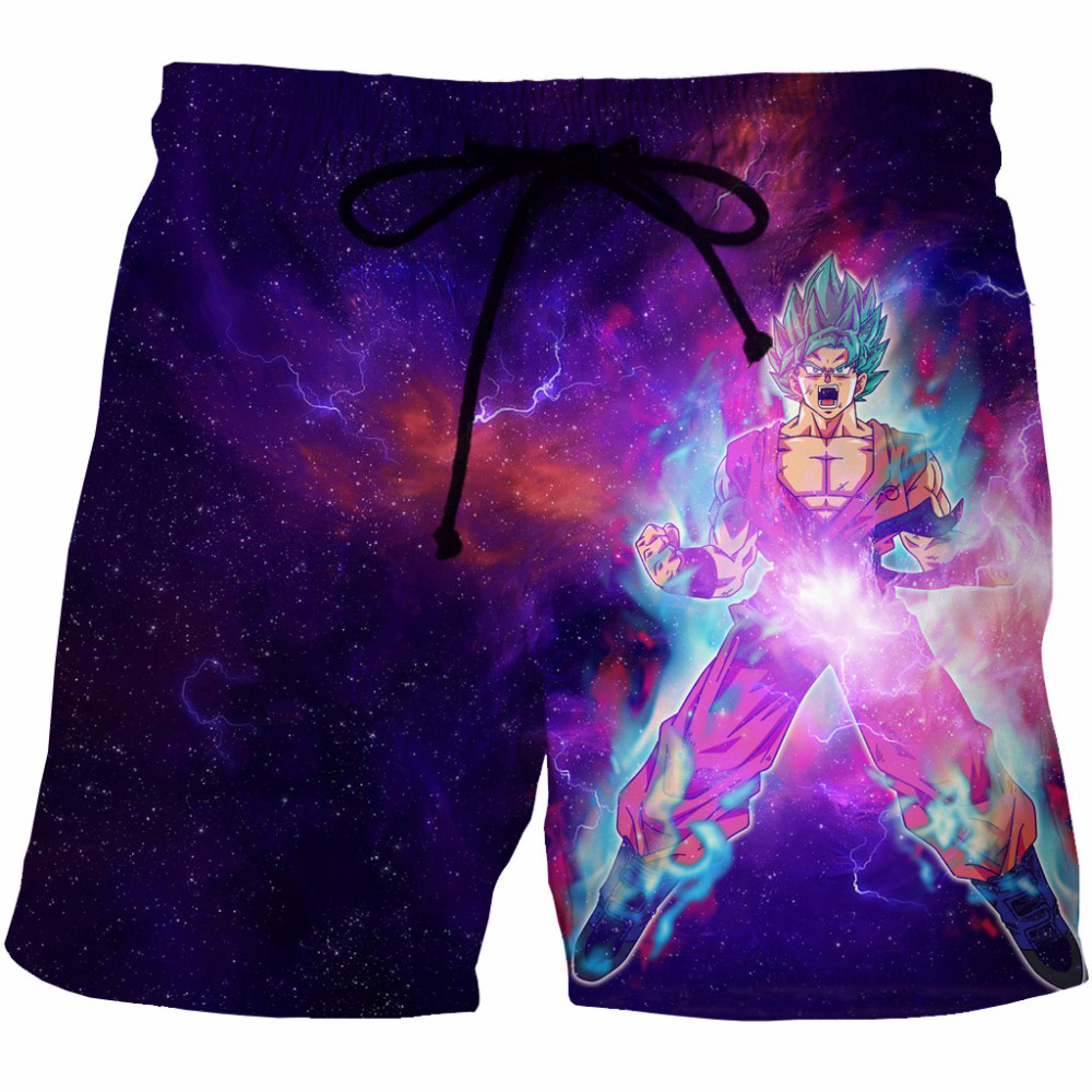 Cloudstyle Anime Dragon Ball Super 3D   Shorts   Men Goku Galaxy 3D Print Streetwear 3D   Board     Shorts   Summer Vacation Beach   Shorts