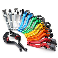 For DUCATI HYPERMOTARD 796 2010 2012, MONSTER S/S2R 800 2005 2007 Motorcycle Adjustable CNC Short Brake Clutch Levers 8 Colors