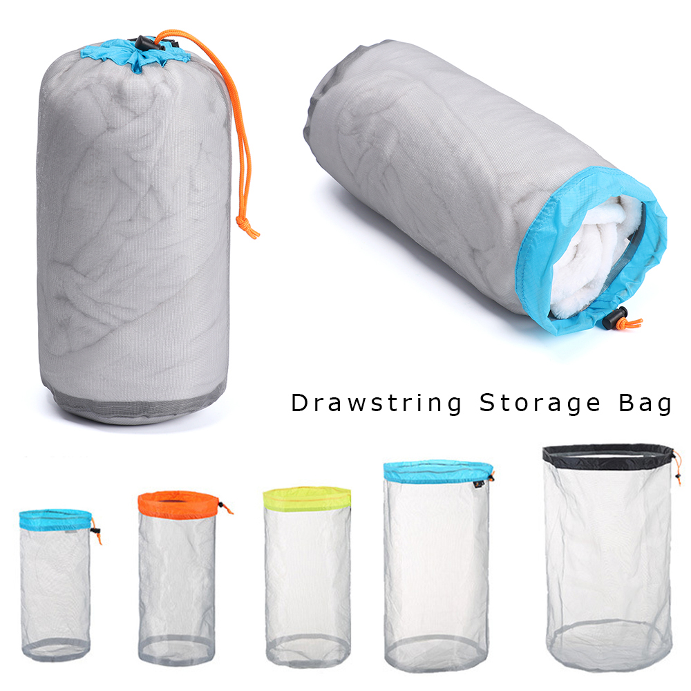 Balight Nylon Meshed Compression Sleeping Bag Stuff Sack Lightweight Portable Storage Carry Bag for Adults Outdoor Camping