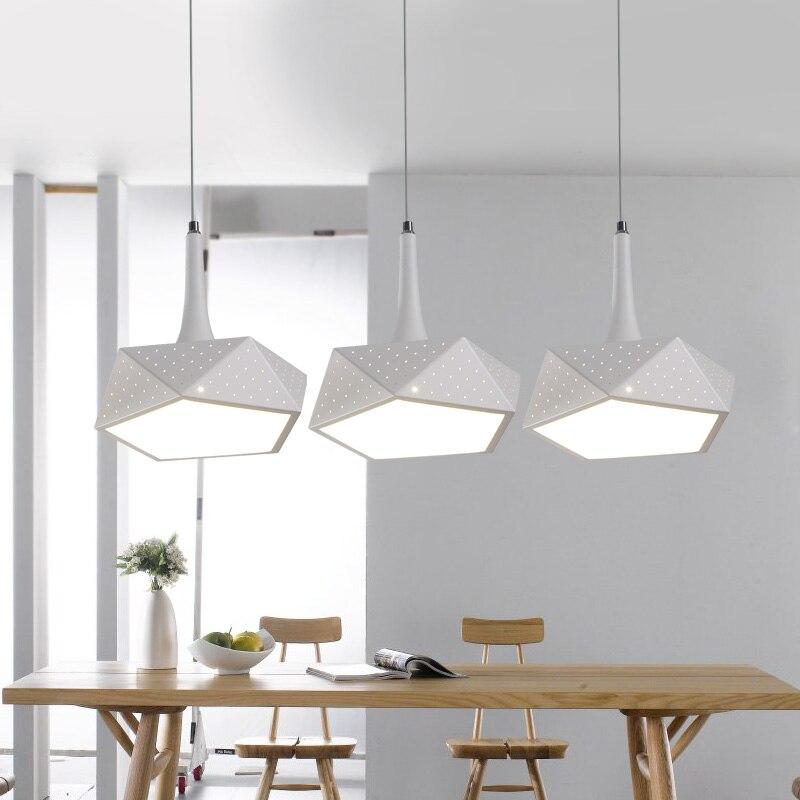 Eetkamer lamp drie moderne minimalistische bar hanglamp GELEID ...