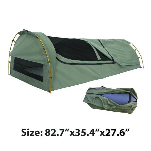 Export to Australia Single canvas swag High grade waterproof sunscreen camping tent sleeping bag roof ventilation