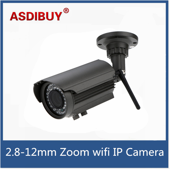 H.264 HD 1280*720P 2.8-12mm Zoom Bullet Waterproof IP Camera with IR-CUT Motion Detection Surveillance cam for home/office bullet camera tube camera headset holder with varied size in diameter