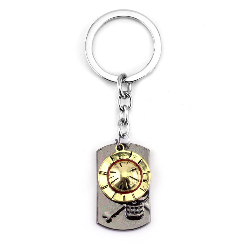 Anime ONE PIECE Keychain ACE Hat Metal Key Ring Holder Chaveiro Car Key Chain Pendant Game One Piece Jewelry Souvenir