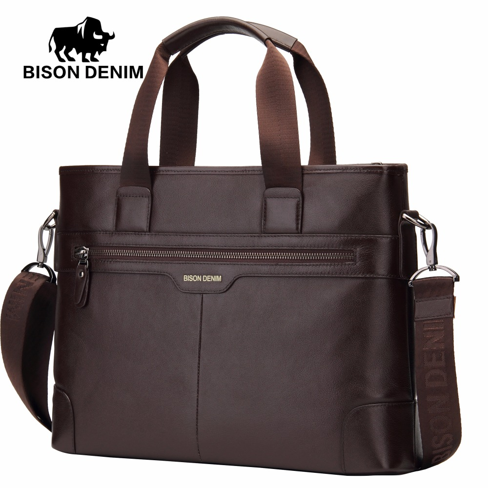 denim bisonte 100% couro do Big Size : L39cm*w9cm*h28.5cm (14 Laptop)