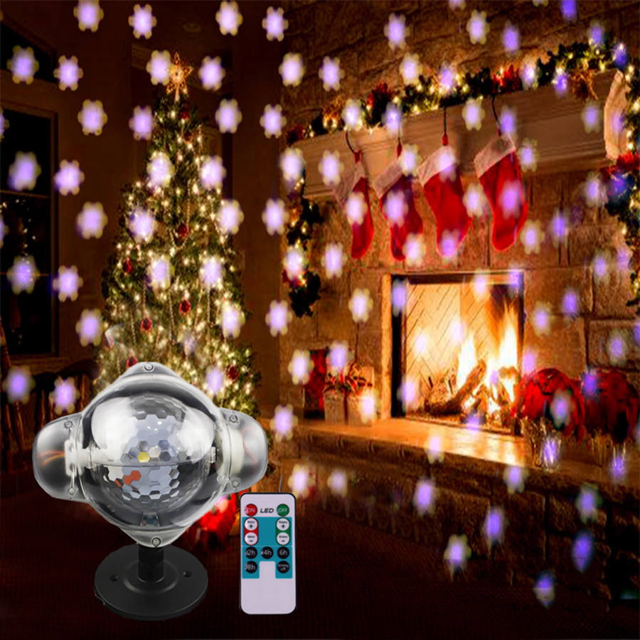 цена Thrisdar Snowfall Laser Projector Light Outdoor Snowflake Projector Lamp IP65 Christmas Garden Holiday Snowflake LED Spotlight онлайн в 2017 году