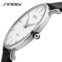 Sinobi Super wąski krój skórzany mężczyzna kobieta najlepszy zegarek kwarcowy na rękę marka ekskluzywny zegarek kwarcowy zegarek na rękę relogio masculino w Zegarki damskie od Zegarki na