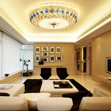Modern K9 crystal LED Ceiling Lights luxurious living room home fixtures round Ceiling lamps bedroom Ceiling lighting modern crystal shell e14 led ceiling lights sea rock edison pendant ceiling lamps girl s bedroom living room wedding xmas home