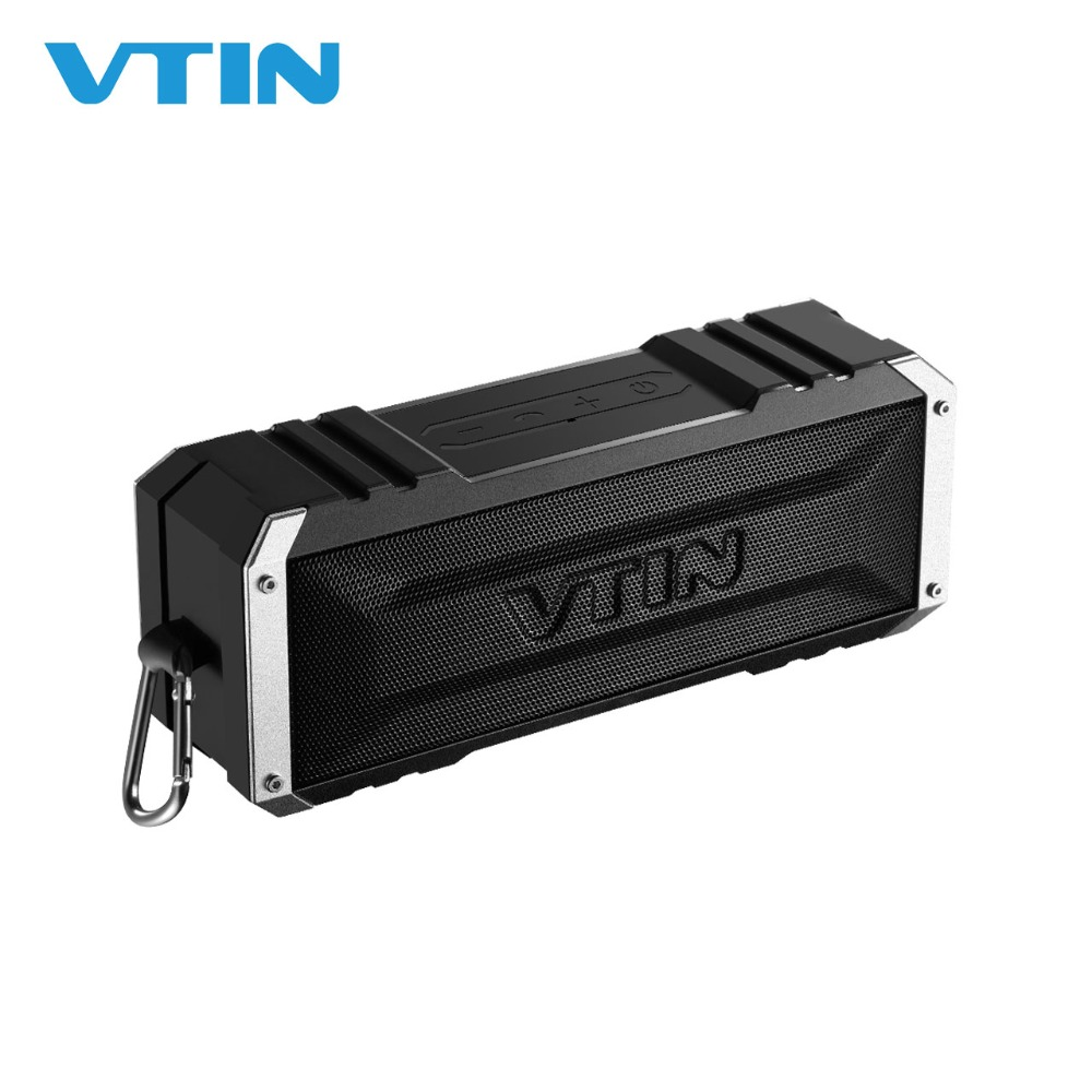 VTIN Punker Portable Bluetooth Wireless Portable 20W Output Dual 10W Drivers Speaker Waterproof luar dengan Mic untuk Smartphone