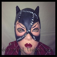 Halloween Party Cosplay Batman Masks Halloween Men's Rubber Adult Full Party Mask Cosplay Movie Latex Catwomen Toy Props