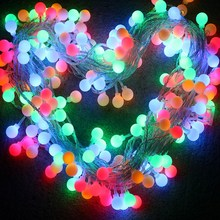 все цены на SVELTA 30M 300 LED Fairy Xmas Ball String Lights Gerlyanda Decorative LED Garland Christmas Lights For Party Holiday Decoration онлайн