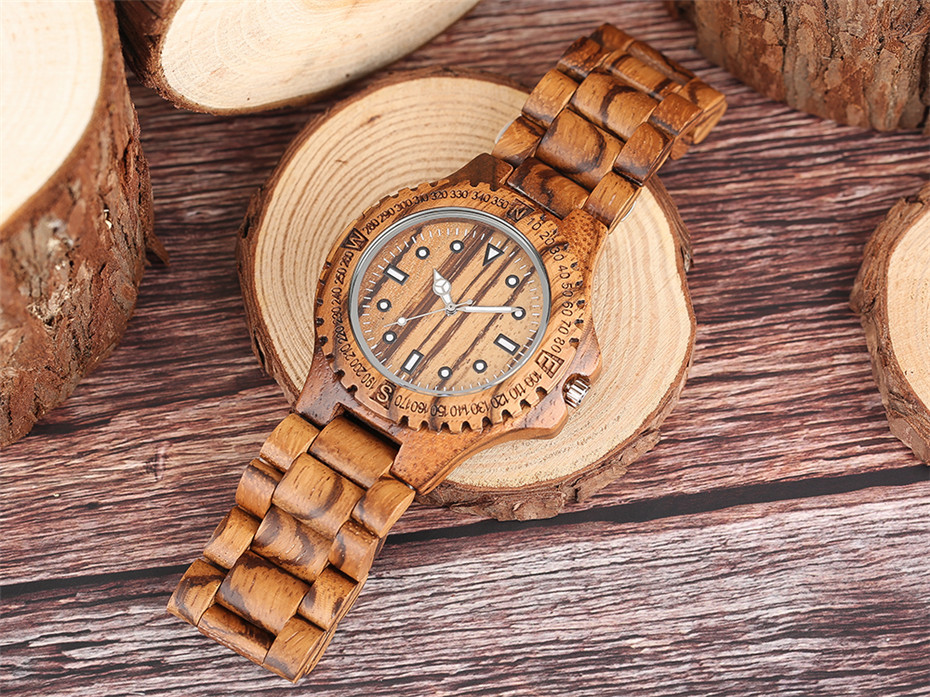 YISUYA Luxury Full Wooden Watch Men Fashion Simple Zebra Wood Analog Creative Watches Modern Casual Men's Clock Gift 2017 New  (6)