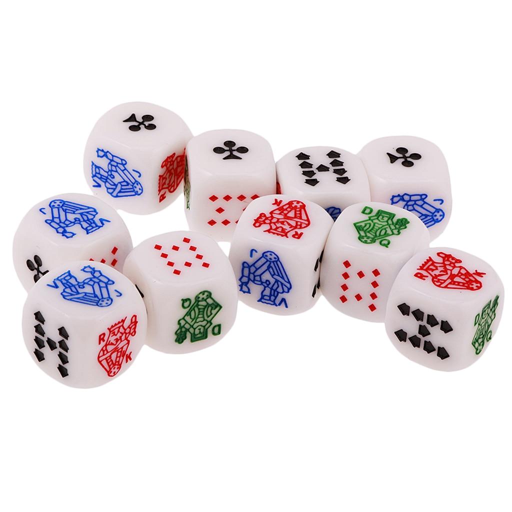 30pcs Acrylic D6 Dice Cubes for D/&D TRPG MTG Party Bar Poker Liar Dice Game