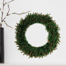 1pcs Christmas Wreath Warm Color LED Light Shiny Garland Wall Ornament for Party Decor Showcase Shopping Mall Outdoor Front Door
