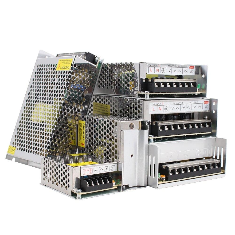 Transformadores de iluminação DC 5V 12V 24V 36 V fonte de Alimentação Adaptador 5 12 24 36 V 1A 2A 3A 5A 6A 8A 10A 15A Laboratório 20A LEVOU Motorista Tira CONDUZIDA