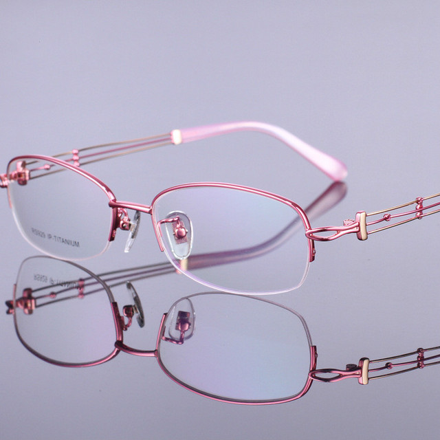 2016 новый 100% чистого Титана мода Скелет очки рамка женщины очки по рецепту очки рамки óculos де грау