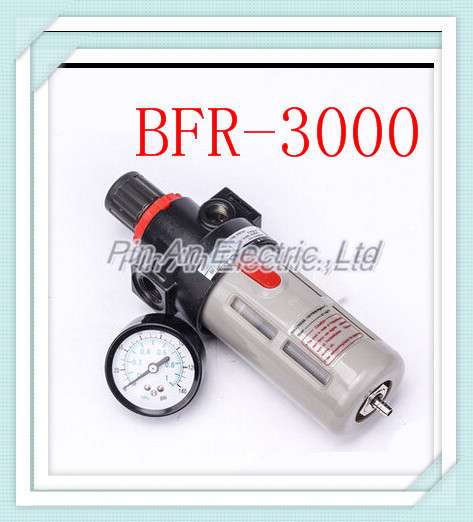 3/8 Pneumatic Source Treatment Unit BFR3000 , Air Filter Pressure Regulator aw30 02e smc pressure regulating filter with bracket pneumatic air source