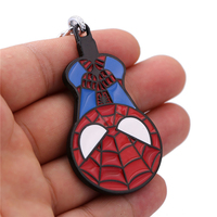12Pcs Lot Hot Spider Man Deadpool Batman Captain America Thor Hulk Model Alloy Keychain For Fans