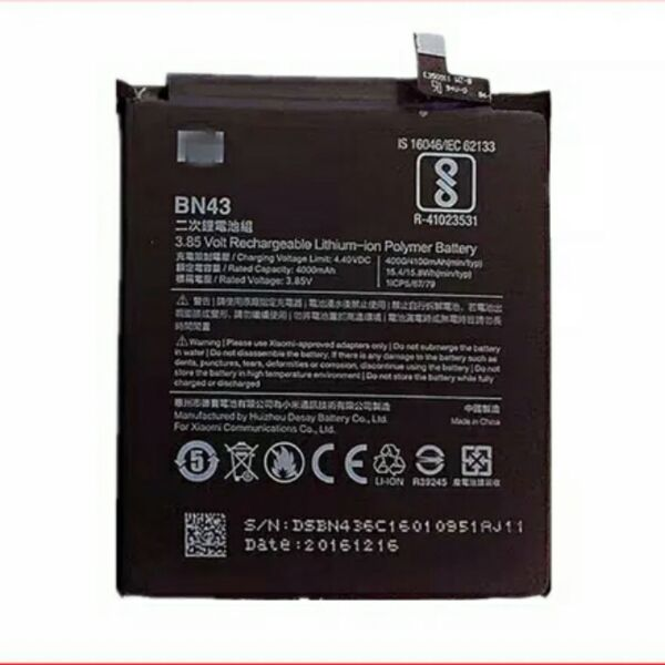 For Xiaomi Redmi Note 4X 4 X Battery 4000/4100mAh BN43 Batterie Bateria