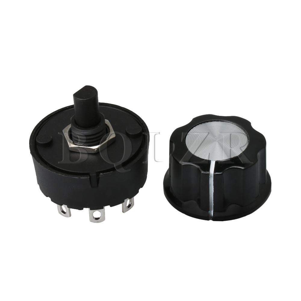 BQLZR 5 Positions 4 Rotate Times Selector Rotary Switch & Knob for Mixer Juicer Soya-bean Milk Machine Home Appliance