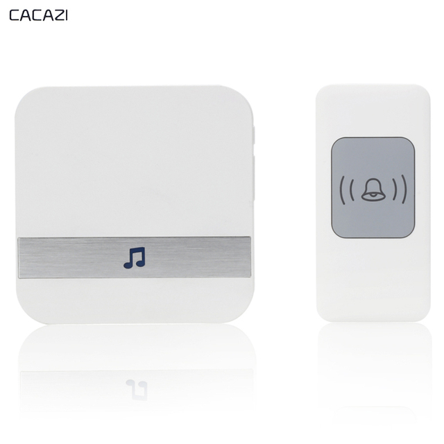 CACAZI 2017 Wireless Doorbell 300M Remote Smart Home Door Bell Chime US EU  AU Plug 52