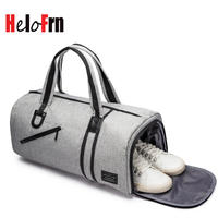 HeloFrn Large Capacity Travel Bags Men Canvas Waterproof Travel Duffle Carry on Bag For Teenager Male Shoes Pocket sac de voyage