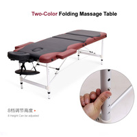 Three Section High Quality Multi Function Cheap Massage Beauty Tatoo Spa Bed Aluminum Massage Tables For