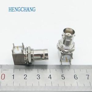 Image 5 - 10 Cái/lốc 5pin Đồng Mạ Nickel RF Đồng Trục Nối BNC Cái Ổ Cắm Vách Ngăn Góc PCB Gắn Đầu Nối BNC