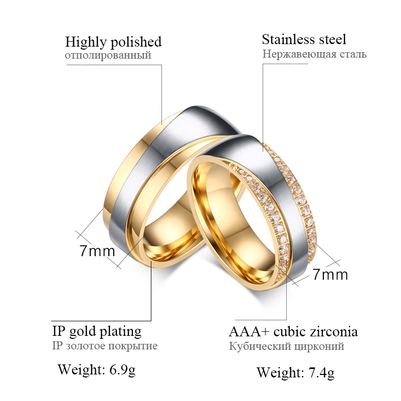 2016 New Couple Ring for Women and Men Love Ring Quality Stainless - Fashion Jewelry - Photo 6