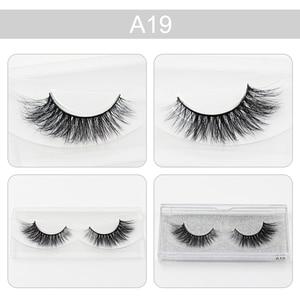 Image 2 - LEHUAMAO false eyelashes handmade real mink lashes fur long 3D strip thick fake faux mink eyelashes Makeup beauty tool A19