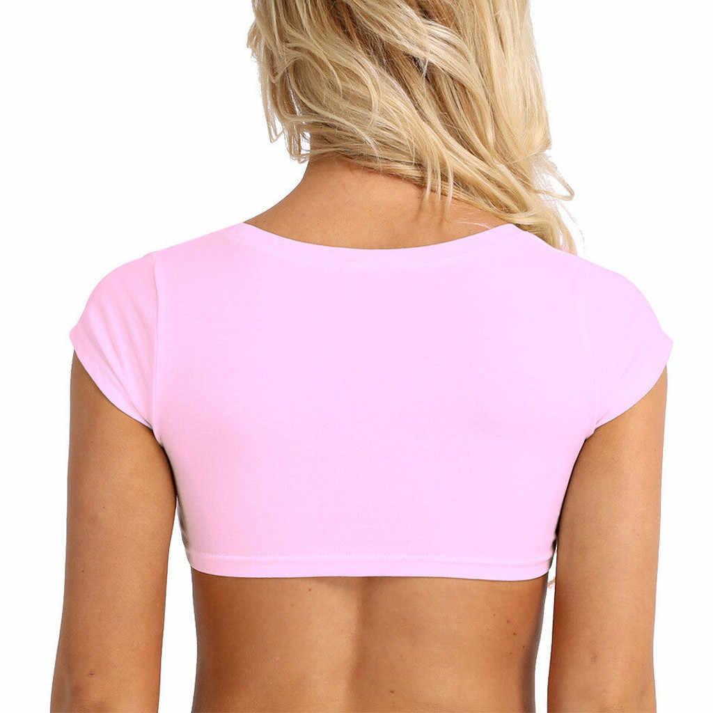 2019 Donne Crop Top Senza Maniche Sheer Mesh See-through Maglia Superiore Femminile Clubwear Night Party Costume Crop Tee Shirt femme