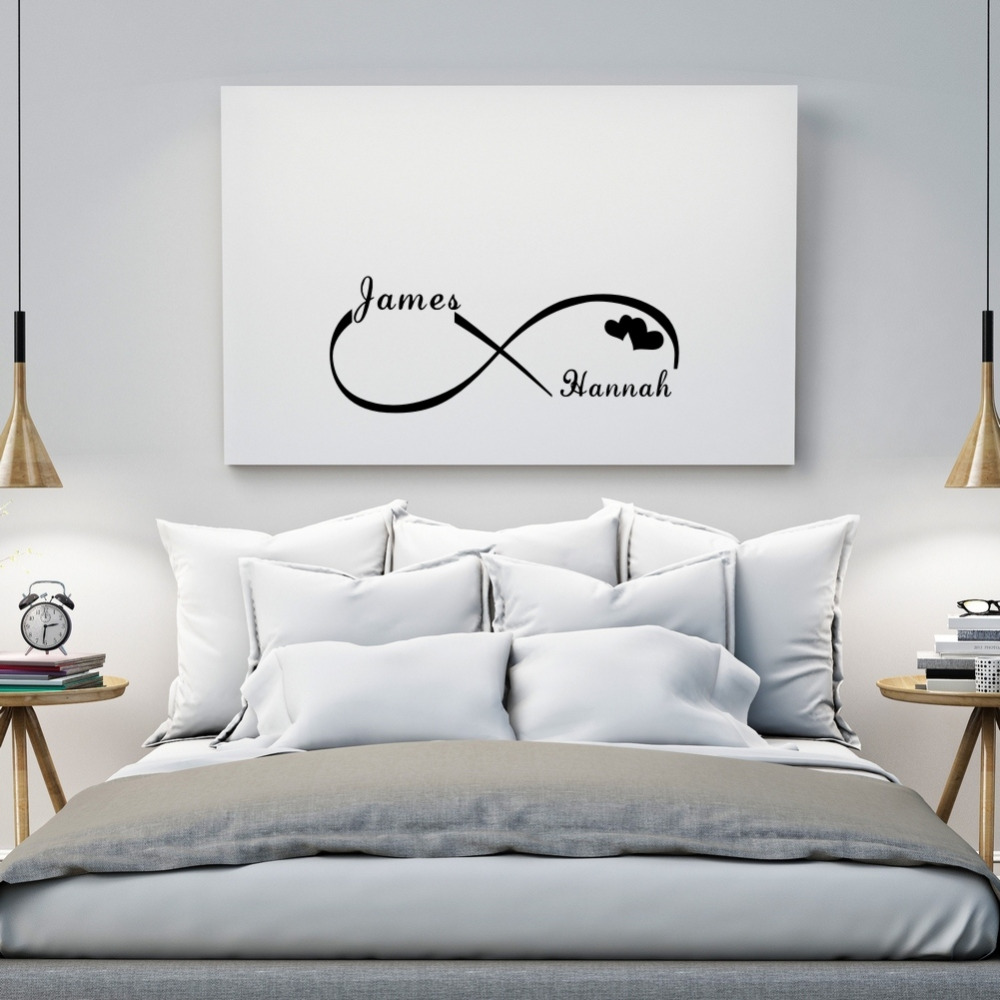 Wandtattoo Schlafzimmer 3d Custom Personalized Couple Name Creative Infinity Symbol