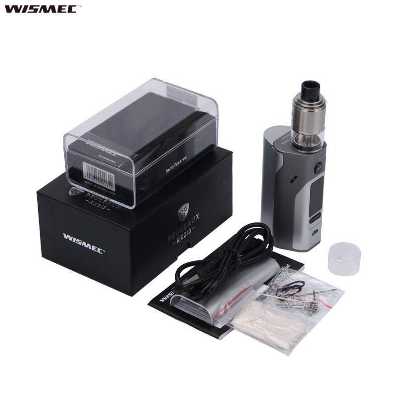 100% Original Wismec Reuleaux RX2/3 TC 150W/200W Box Mod Powered by Two/Three Cells with Upgradeable Firmware indesit ib 201 s