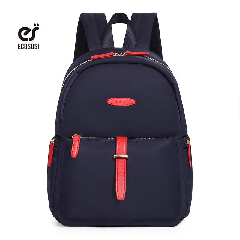 Ecosusi New Design For Teenage Girls School Student Backpack Young Girl Travel Bag Nylon Backpack Laptop