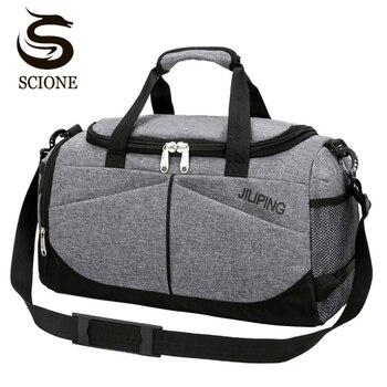 a55d50545811 Горячая Мужская Дорожная сумка большой емкости женская сумка для багажа дорожная  сумка на плечо мужская парусиновая большая дорожная скла.
