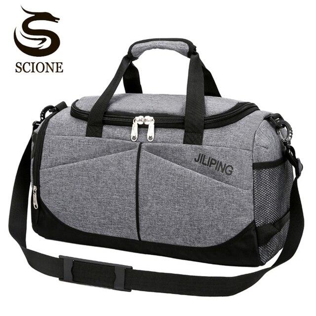 Популярная мужская дорожная сумка большой емкости женская сумка для багажа дорожная сумка для путешествий Мужская парусиновая большая дорожная складная сумка через плечо