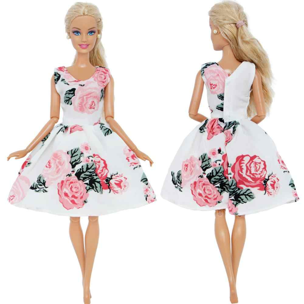 ... Handmade Mini Dress Mixed Style Casual Dating Wear Lace Skirt Floral  Pattern Gown Clothes For Barbie ... 9372da95d4c8