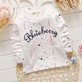 4pcs New Spring 2016 Baby boys girls T-Shirts letter Pattern cotton Tops 0-4y Kids Clothes