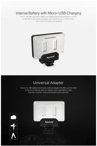 Image 4 - Aputure أماران AL M9 CRI95 + Mini LED الفيديو الضوئي على الكاميرا ملء ضوء مع حامل ضوء ترايبود صغير ومجموعة تنظيف Pergear