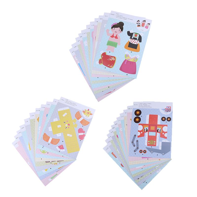12pcs/set Cute 3d Origami Handwork Toy Fun Cartoon Diy Handcraft Paper Folding Puzzle Origami Kids Early Educational Toy A Plastic Case Is Compartmentalized For Safe Storage Toys & Hobbies Puzzles & Games