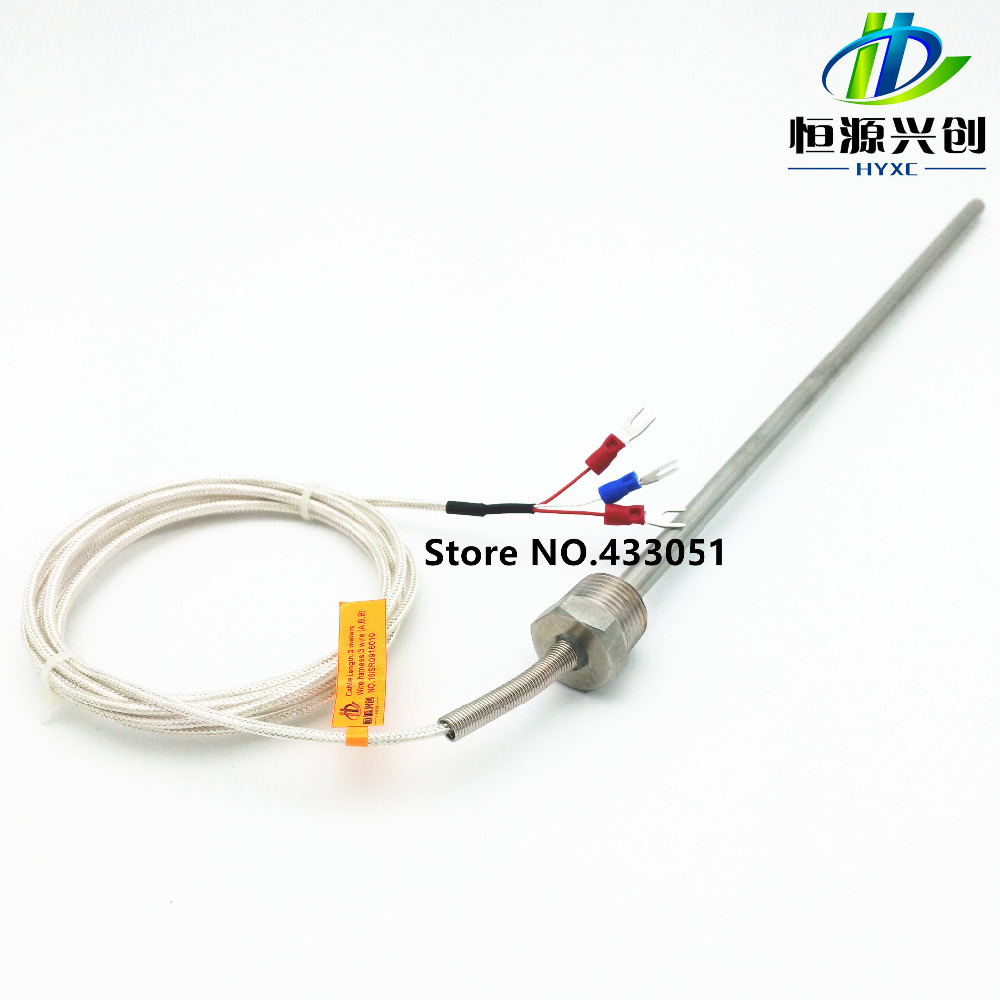 "Free Shipping RTD Pt1000 Ohm Probe Sensor L 500mm Long Type PT 1/2"" NPT 1/2'' With Lead Wire"