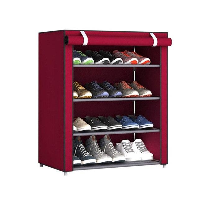 NAI YUE Dustproof Large Size Non-Woven Fabric Shoes Rack Shoes Organizer Home Bedroom Dormitory Shoe Racks Shelf Cabinet 4