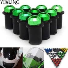 Motorcycle accessories custom fairing screw bolt windscreen for Kawasaki ninja zx6r zx9r zx12r z800 z1000 z750 Z250 ER6N/F