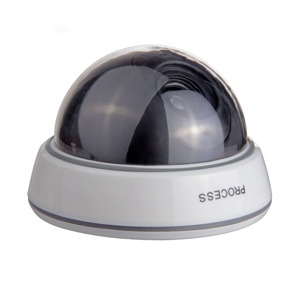 Fake Virtual Camera Indoor & Outdoor Waterproof Flashing LED Dome CCTV Home Security Monitoring Camera white black dummy camera fake dome cctv camera indoor outdoor red led flashing light for home security for christmas