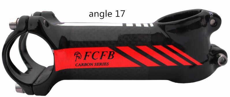 Специальная цена FCFB из углерода велосипед stem Дорожный/MTB алюминиевый углеродный стержень угол 6 угол 17 Велосипедная вилка 28,6 мм руль 31,8 мм