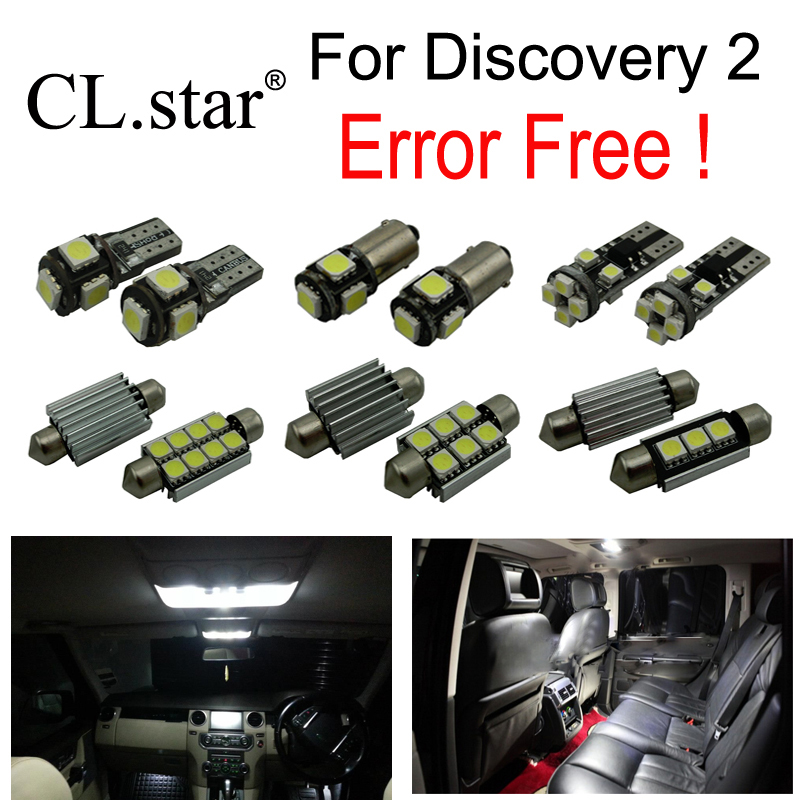 17pcs canbus error free interior bulb LED light kit for Land Rover for Discovery 2 (1998-2004) 2pcs car led headlight kit led bulb d33 h11 free canbus auto led lamps white headlamp with yellow light fog light for citroen c4