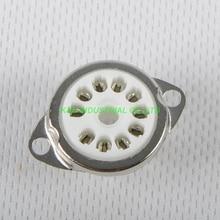 2ピース10pinセラミック管ソケット6AF9 6 × 9谷ソケットシャーシマウントfr真空管アンプ