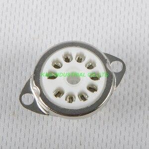 Image 1 - 2ピース10pinセラミック管ソケット6AF9 6 × 9谷ソケットシャーシマウントfr真空管アンプ