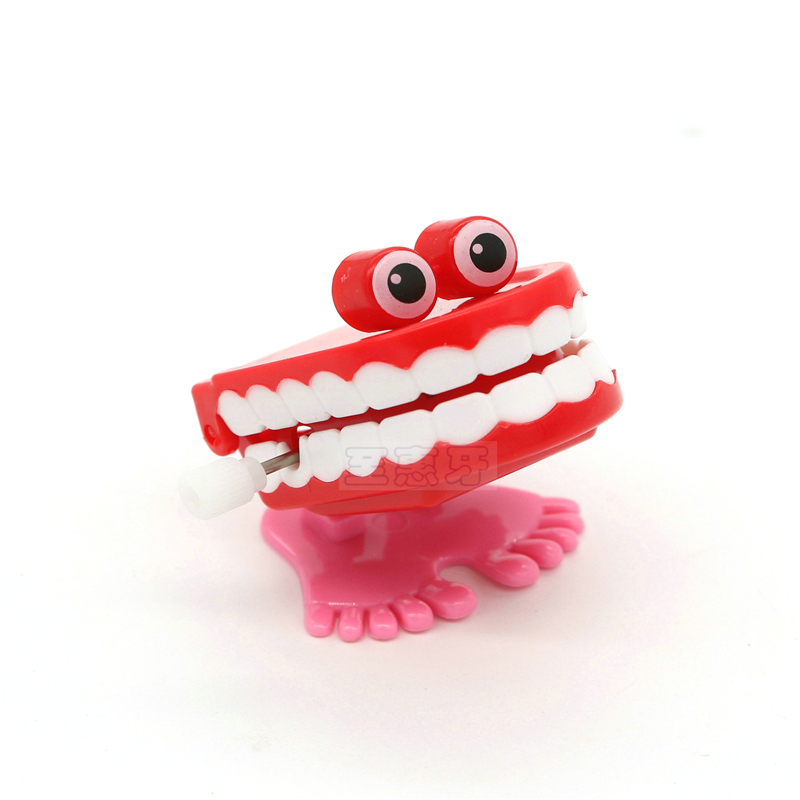Toys Wholesale Spring Creative Dental Gift Dental Toys Wholesale Spring Plastic Toys Jump Teeth Chain For Children Action & Toy Figures